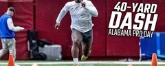 40-yard dash Alabama Pro Day